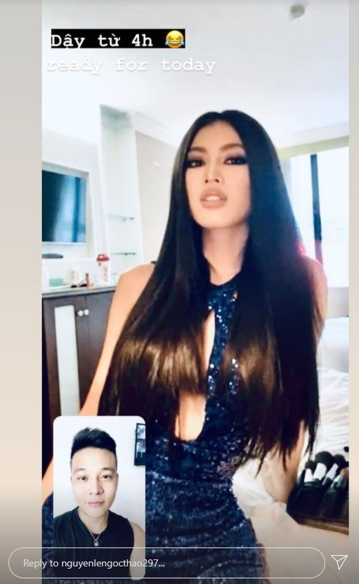 Mặc lại váy lục sắc của Hương Giang, Ngọc Thảo nổi bật tại buổi chụp hình ở Miss Grand ảnh 2