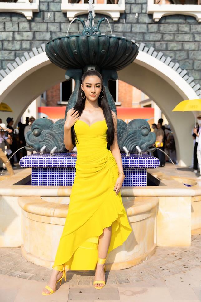 Dàn Hoa, Á hậu cùng diện sắc vàng khoe body nóng bỏng trên thảm đỏ thời trang ảnh 7