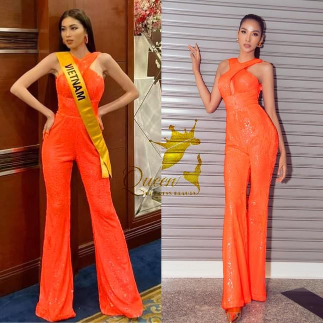 Sau 3 lần 'đụng hàng' Hương Giang, Ngọc Thảo mặc lại jumpsuit của Hoàng Thùy ở Miss Grand ảnh 7