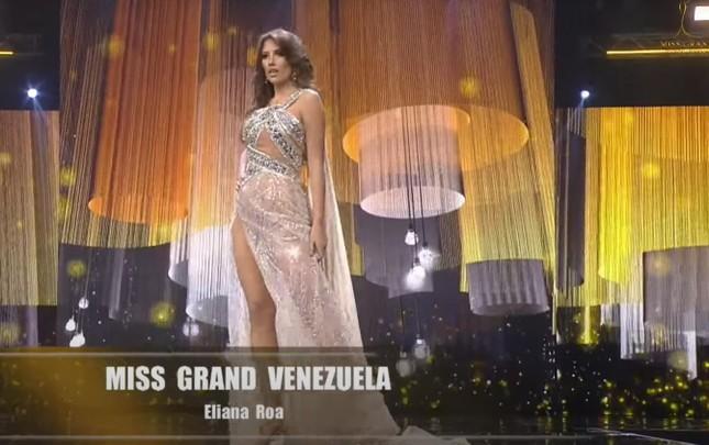 Hoa hậu Venezuela 'lộ hàng' gây sốc, Hoa hậu Panama 'lột váy' tại bán kết Miss Grand ảnh 1
