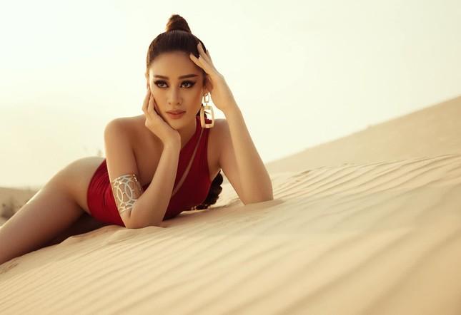 Khánh Vân khoe vòng ba 95cm nóng bỏng với áo tắm trước khi đi Mỹ thi Miss Universe ảnh 5