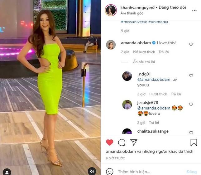 Hoa hậu Hoàn vũ Thái Lan 'thả tim' và khen style của Khánh Vân khiến fans Việt phấn khích ảnh 2