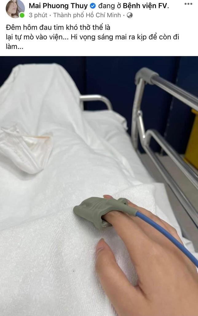 Mai Phương Thuý bất ngờ đăng ảnh nhập viện lúc nửa đêm khiến fans lo lắng ảnh 1