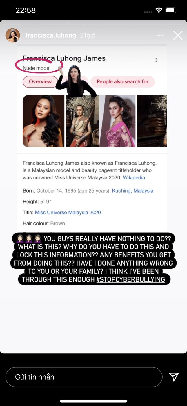 Hoa hậu Hoàn vũ Malaysia trở thành nạn nhân của bôi nhọ trên mạng ảnh 1