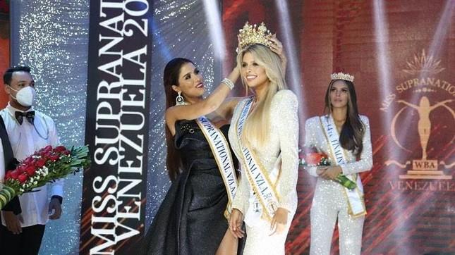 Mỹ nhân nóng bỏng sở hữu chiều cao 'khủng' 1m80 lên ngôi Hoa hậu Siêu quốc gia Venezuela ảnh 1