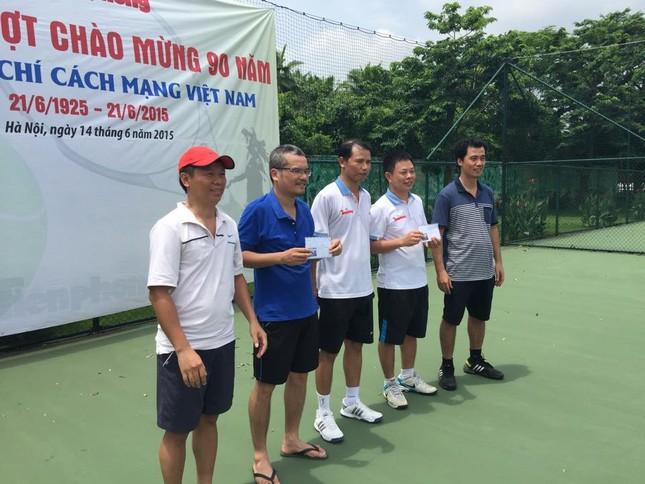 Sôi nổi giải quần vợt báo Tiền Phong chào mừng Ngày Báo chí cách mạng ảnh 4