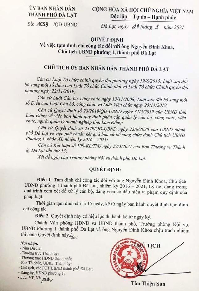 Hai chủ tịch phường ở Đà Lạt bị tạm đình chỉ vì sử dụng chất kích thích ảnh 1