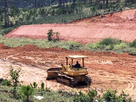 Lâm Đồng: Mặc lệnh cấm, nhiều phương tiện vẫn san bạt núi đồi ảnh 1