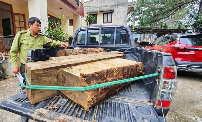 Cuộc rượt đuổi quyết liệt truy bắt xe chở gỗ lậu ở Cổng trời ảnh 1