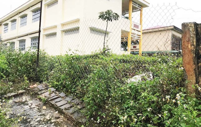 Tường rào bê tông nứt toác, hơn 600 học sinh sống trong sợ hãi ảnh 1
