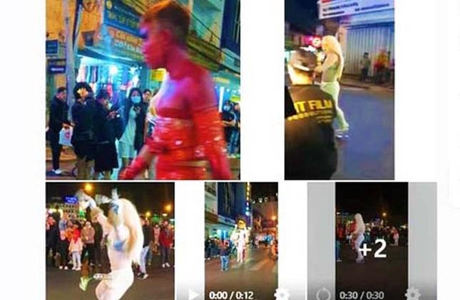 Người mặc phản cảm, làm trò lố trên phố Đà Lạt bị phạt 7,5 triệu đồng ảnh 2