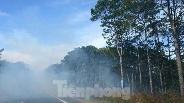 Run rẩy lưu thông trên QL14 vì khói đen bao phủ ảnh 1