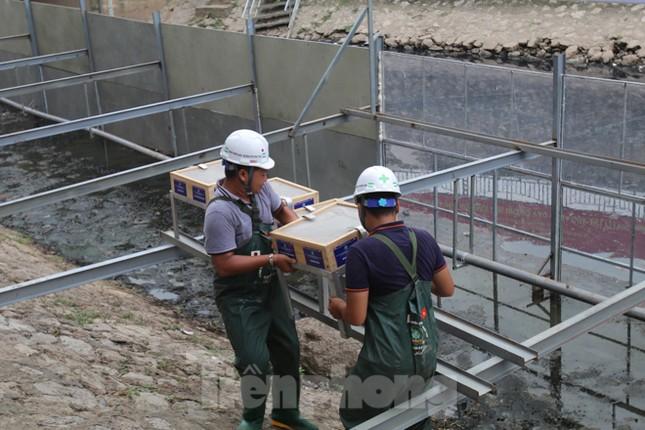 Bắt đầu xử lý bùn sông Tô Lịch thành khí CO2 bằng 'bảo bối' Nhật ảnh 5