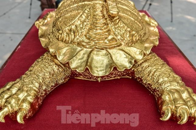 Tận thấy 'cụ rùa Hồ Gươm' khổng lồ được mạ vàng 9999 ảnh 7