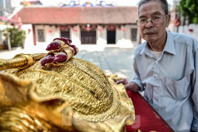 Tận thấy 'cụ rùa Hồ Gươm' khổng lồ được mạ vàng 9999 ảnh 9