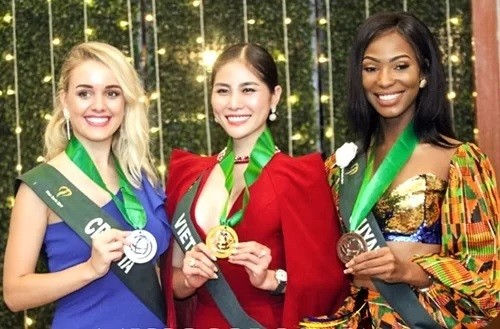 Người đẹp Hoàng Hạnh đoạt giải vàng ở Miss Earth ảnh 2
