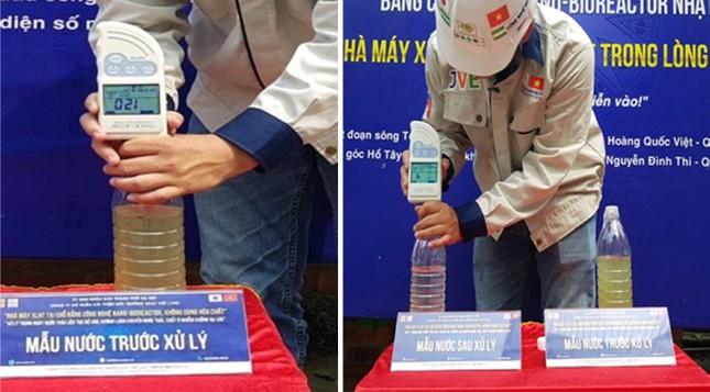 Công bố hiệu quả làm sạch sông Tô Lịch và Hồ Tây bằng 'bảo bối' Nhật ảnh 1