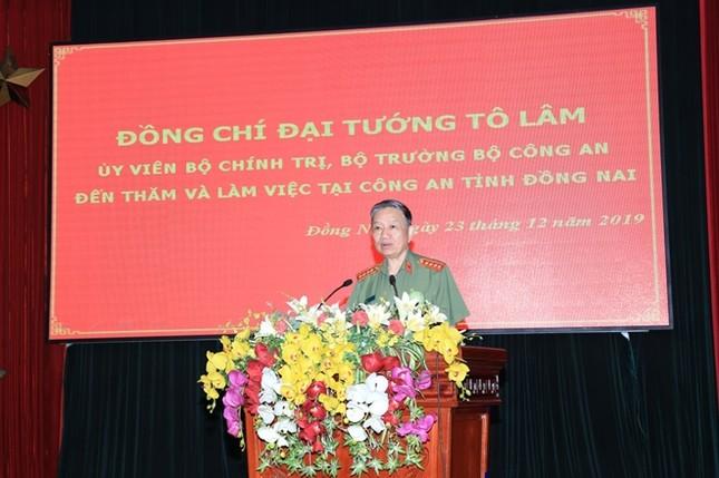 Đại tướng, Bộ trưởng Tô Lâm làm việc tại Công an Đồng Nai ảnh 1