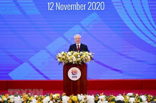 Hình ảnh Tổng Bí thư, Chủ tịch nước Nguyễn Phú Trọng dự Lễ khai mạc ASEAN 37 ảnh 2