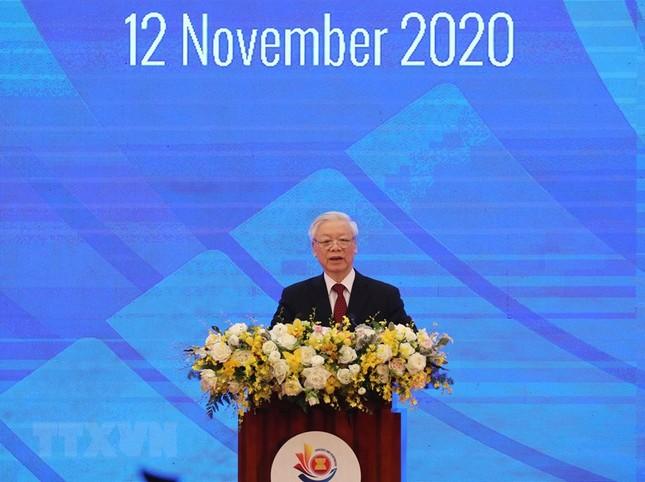 Hình ảnh Tổng Bí thư, Chủ tịch nước Nguyễn Phú Trọng dự Lễ khai mạc ASEAN 37 ảnh 3