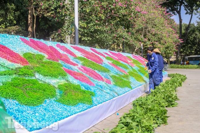 Hà Nội rực rỡ hoa chào mừng Đại hội Đảng lần thứ XIII ảnh 14