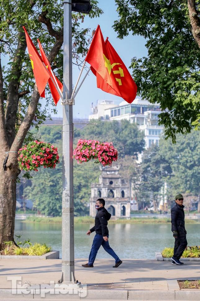 Hà Nội rực rỡ hoa chào mừng Đại hội Đảng lần thứ XIII ảnh 9