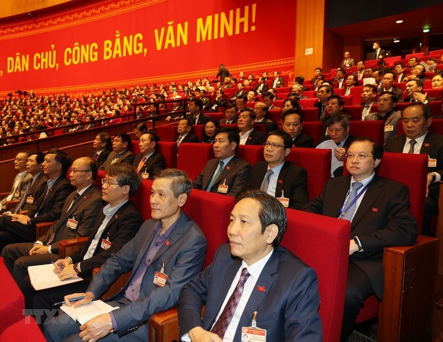 Cận cảnh phiên thảo luận các văn kiện Đại hội XIII của Đảng ảnh 7