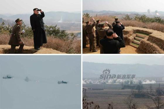 [ẢNH] Ông Kim Jong-un thị sát tập trận đánh chìm tàu sân bay ảnh 6