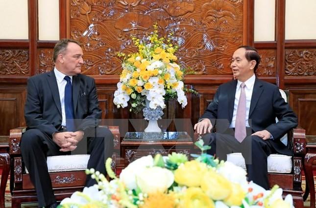 Chủ tịch nước Trần Đại Quang tiếp Đại sứ Áo và Slovakia ảnh 1