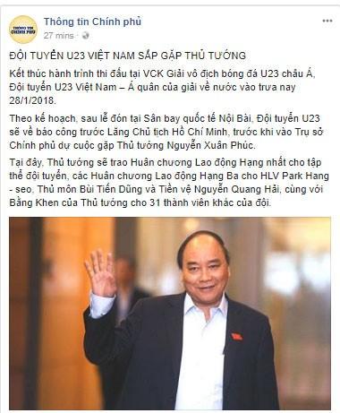 Thủ tướng: U23 Việt Nam đã vô địch trong 90 triệu con tim ảnh 86