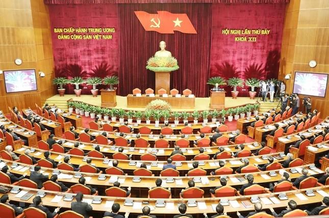 Hình ảnh Bế mạc Hội nghị lần 7 Ban Chấp hành Trung ương Đảng khóa XII ảnh 2