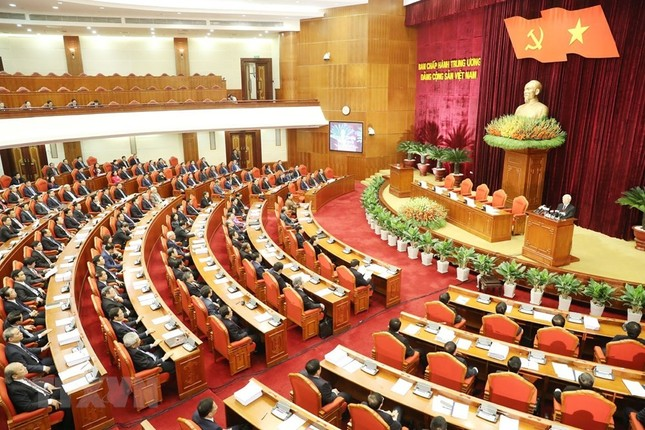 Hình ảnh Bế mạc Hội nghị lần 7 Ban Chấp hành Trung ương Đảng khóa XII ảnh 5