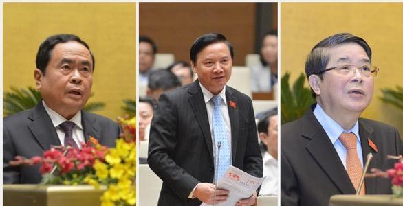 Quốc hội có ba phó chủ tịch mới ảnh 1