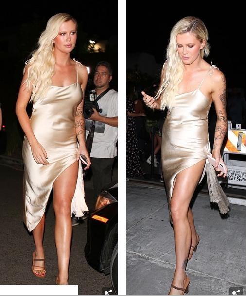 Người mẫu 9x mặc váy lụa mỏng 2 dây, không áo ngực đi sự kiện gây tranh cãi ảnh 7