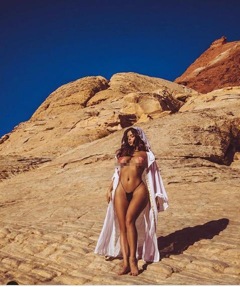 Demi Rose tung ảnh bán nude siêu nóng bỏng, gây 'bão' cộng đồng mạng ảnh 1