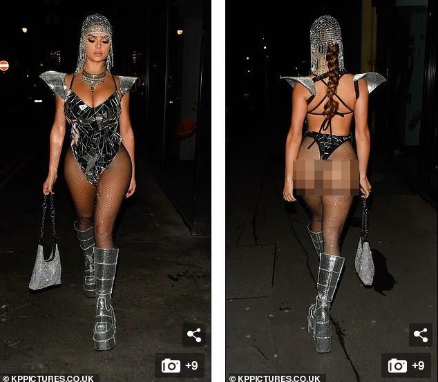 Mẫu nội y Demi Rose lại hở bạo, khoe da thịt 'nhức mắt' đi chơi Halloween ảnh 2