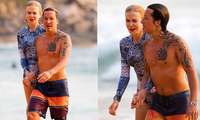 'Thiên nga nước Úc' Nicole Kidman đi nghỉ hạnh phúc bên chồng ảnh 1
