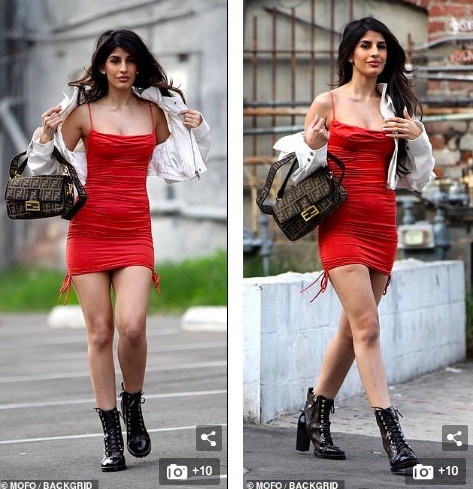 Jasmin Walia 'thả rông' vòng 1 với váy trễ nải ảnh 4