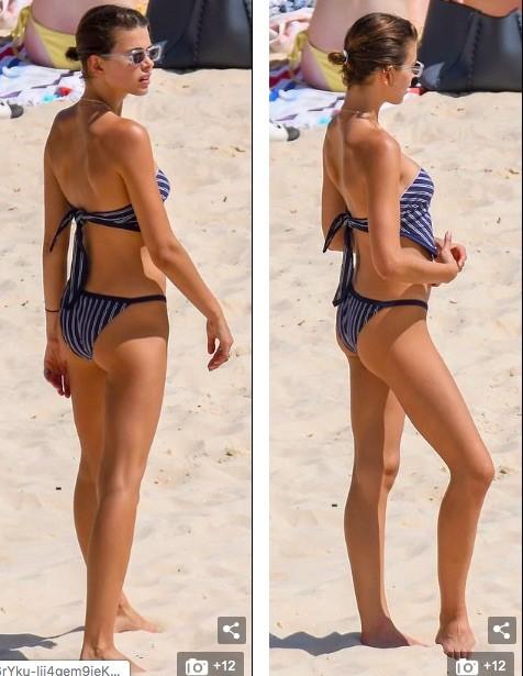 Chân dài Victoria's Secret mặc áo tắm lạ mắt, dáng đẹp như tạc tượng ở biển ảnh 6