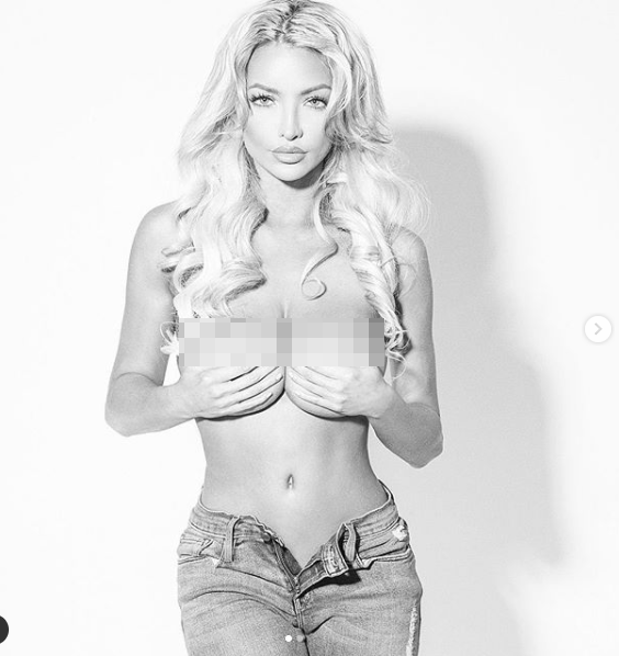'Siêu vòng 1' Lindsey Pelas chụp ngực trần nóng 'nhức mắt' ảnh 2