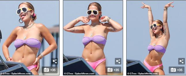 Rita Ora mặc bikini 'bốc lửa' vẫn khiến fan thất vọng ảnh 1