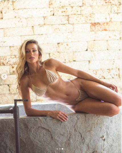 Mẫu nội y 9x Cindy Prado tung ảnh bikini siêu bé màu nude gợi cảm hết nấc ảnh 2
