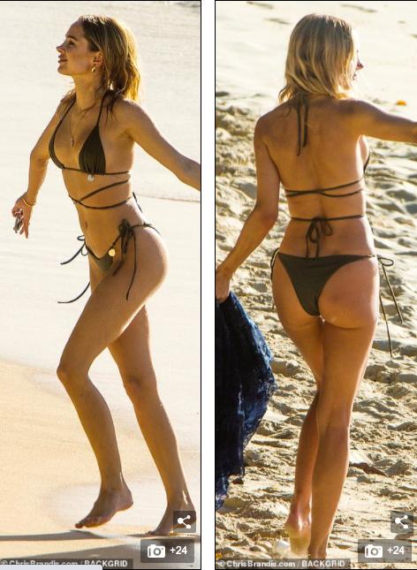 Kimberley Garner đẹp như tạc tượng với bikini bé xíu, tình tứ bạn trai ở biển ảnh 4