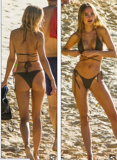 Kimberley Garner đẹp như tạc tượng với bikini bé xíu, tình tứ bạn trai ở biển ảnh 6