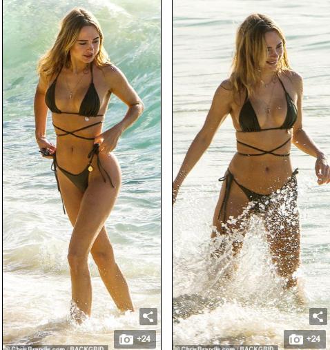 Kimberley Garner đẹp như tạc tượng với bikini bé xíu, tình tứ bạn trai ở biển ảnh 14