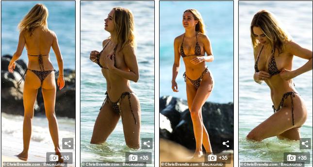 Mẫu 9x Anh quốc mặc bikini bé xíu, tôn đường cong tuyệt mỹ ở biển ảnh 6