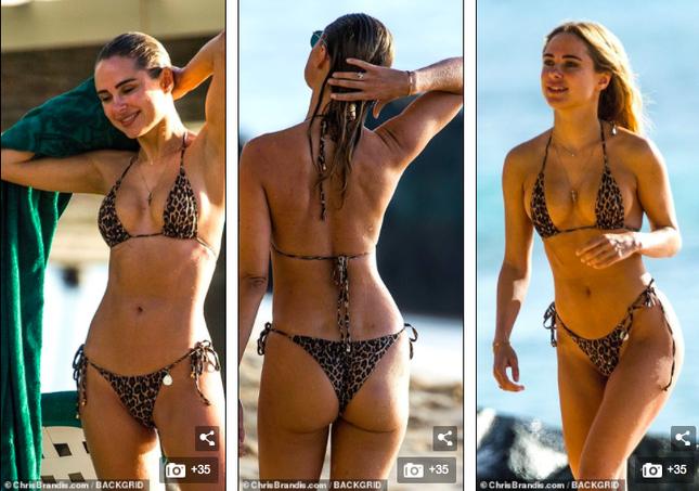 Mẫu 9x Anh quốc mặc bikini bé xíu, tôn đường cong tuyệt mỹ ở biển ảnh 7