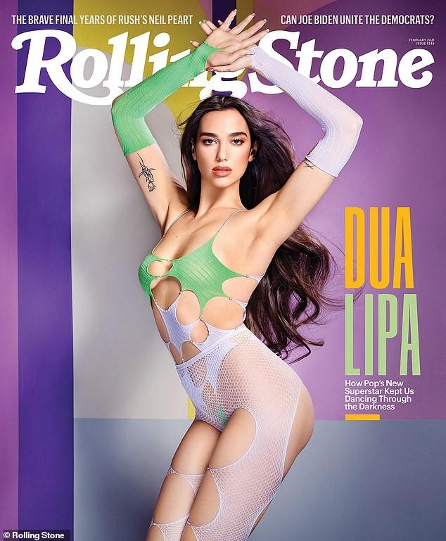 Dua Lipa gây choáng váng với ảnh hở hang táo bạo trên Rolling Stone ảnh 1