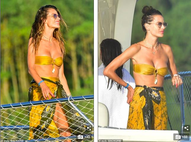 Siêu mẫu Alessandra Ambrosio mặc bikini quây khoe vòng 1 nóng bỏng ảnh 2