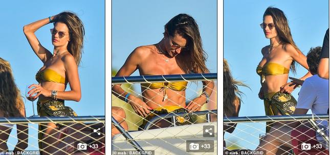 Siêu mẫu Alessandra Ambrosio mặc bikini quây khoe vòng 1 nóng bỏng ảnh 3